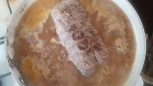 عرق اللحمه البارده وارز الكركم في حلة الضغط