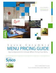 Sysco Menu Design Sysco Columbia Menu Pricing Guide By Sysco Columbia Llc Issuu