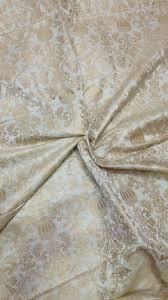 Floral Brocade Printed Floral Brocade Silk Fabric