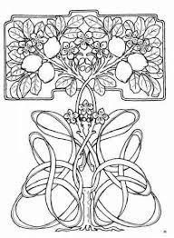 Kleurplaten Patroon Art Nouveau Stijl Pin Via Dromenvangers