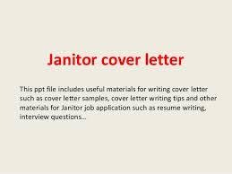 Janitor Cover Letter Musiccityspiritsandcocktail Com