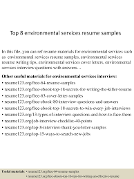 Sample Resume For Environmental Services Top224environmentalservicesresumesamples224lva224app622492thumbnail24jpgcb=2242432425224524224 3