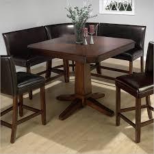 casual bistro design with kitchen nook table set on kmart dark brown finish pedestal table