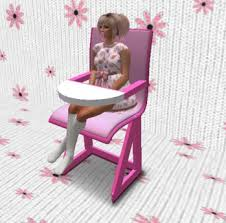 Highchair1 Second Life Marketplace - Pied Piper Adult Baby Highchair pink