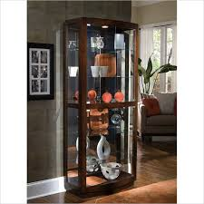pulaski pacific heights curved glass door curio