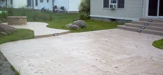 poured concrete patio rochester ny
