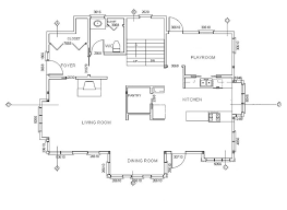 detailed floor plan for cross sections on the floor plan drawing