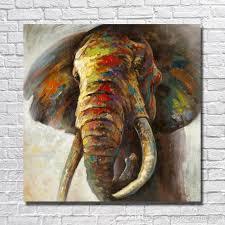 elephant canvas wall art awesome 2018 big size hand made elephant oil painting canvas wall art