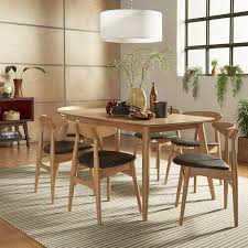 norwegian danish modern oak tapered dining set inspire q modern 7pc 59 table beige fabric with 6 chairs brown size 7 piece sets
