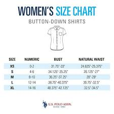 Size Guide Womens Shirts U S Polo Assn