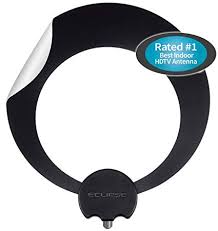 Antennas Direct Clearstream Eclipse Tv Antenna 35 Miles 55 Km Range Multi Directional Grips To Walls Windows With Sure Grip Strip 12 Ft Rg 6
