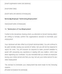 Sample Notice Period Resignation Letter Employee Template Employment ...