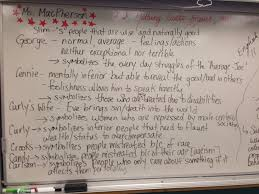 of mice and men character analysis essay of mice and men george  macpherson online of mice and men 1 finish chart character descriptions work on quotations finish tuesday