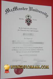 Replica Degree Certificates Uk Mcmaster University Canada Fake Diplomas Mcmaster Replica