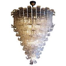 huge italian murano glass chandelier for