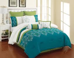 luxury bedroom with queen parksville blue green ivory comforter sets smart blue green bedding design