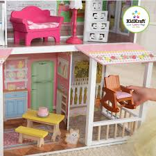 wooden barbie doll furniture. kidkraft sweet savannah wooden dollhouse with 13 pieces of furniture walmartcom barbie doll