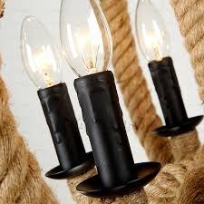 industrial look lighting fixtures. Industrial 6-Light Look Lighting Fixtures Rope O