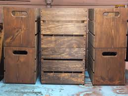 custom made stackable wooden crates beer crates rustic crates