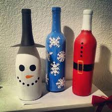 103 Best Decorated Wine Bottles Images On Pinterest  Wine Bottle Wine Bottle Christmas Crafts