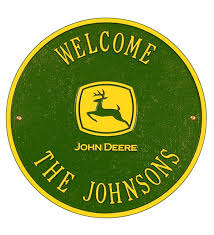 Main image for American-Made Personalized John Deere Cast Welcome Sign In  Cast Aluminum