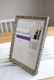Clever office organisation 29 diy office table Decoration Office Desk Organizer From Picture Frame Diy Repurpose Reuse Old Picture Frame Ideas10 Sad To Happy Project 41 Ways To Reuse Old Picture Frames Diy Recycled Craft Ideas