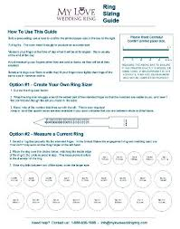 Printable Ring Size Chart Ring Size Guide Free Ring Sizer My Love Wedding Ring