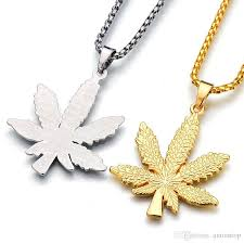 whole fashion hiphop jewelry necklace pendant silver plated maple leaf pendant long gold chains hip hop bling necklace for men women gifts h472f mens