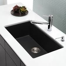 kraus 31 inch undermount single bowl granite kitchen sink with 8 inch bowl depth heat resistant easy to clean surface and naturally quiet