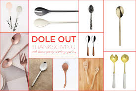 dole out thanksgiving dinner with these pretty serving spoons gallery image 1