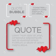 Quote Bubble With Hearts Valentines Speech Bubble Paper Cut