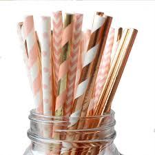 <b>Striped</b> Paper Straw Set <b>Disposable</b> Party Bar Pearl Milk Tea ...