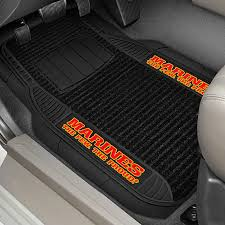 fanmats 15715 1st row deluxe vinyl car mats with marines logo for
