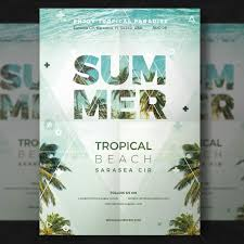 Part Flyer Summer Party Flyer Psd File Free Download