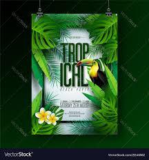 Green Party Flyer Summer Tropical Beach Party Flyer Design