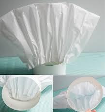diy chef hat pizzaria baking tissue paper fold