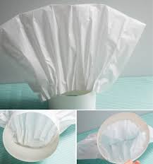 diy chef hat pizzaria baking tissue paper fold