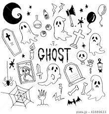 Ghost Illustration Packのイラスト素材 43889633 Pixta