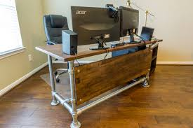 Whether you have a private office or rent a desk all of our creations are custom  made with steel pipe and wood.
