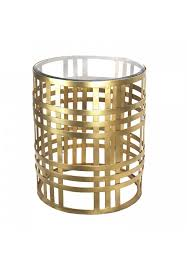ds gilded cage end table 19 gilded iron glass top accent table round
