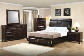 phoenix storage platform bed 6 piece bedroom set in rich deep cappuccino finish by coaster 200419