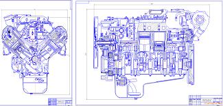 Курсовые и дипломные работы автомобили расчет устройство  Чертежи Двигатель ЯМЗ 238