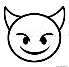 Coloriage Diable Emoji Iphone Dessin Dessin De Smiley A Colorier Et A Imprimer L