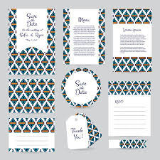 Wedding Card Template Stunning Vector Gentle Wedding Cards Template With Hipster Ethno Design