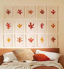 leaf art on easy inexpensive diy wall art with 50 easy fall decorating projects midwest living