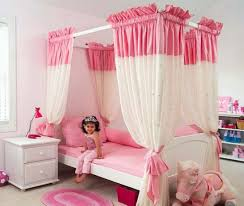Bedroom Ideas Cute Young Girls Bed Decor With Pretty Pink Canopy