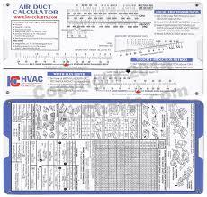 Hvac Charts Duct Sizing Calculator