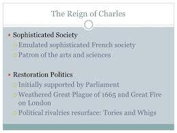 literature the restoration and the eighteenth century ppt 3 the reign of charles sophisticated society