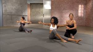you need very little for this dvd a mat is ideal for most of them for the sake of fort especially during pilates power and calisthenics but it s also