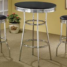 coaster fine furniture soda fountain round bar table